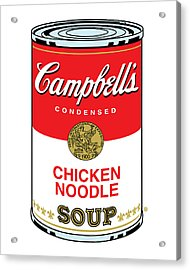 Chicken Noodle Soup Acrylic Print by Gary Grayson