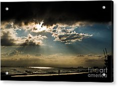 Chick's Beach Morning Acrylic Print by Angela DeFrias