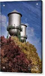 Chico Water Towers Acrylic Print