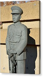 Chico's General Vang Statue In January 2014 Acrylic Print by James Warren