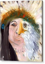 Chief Black Eagle Acrylic Print