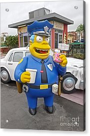 Chief Clancy Wiggum From The Simpsons Acrylic Print