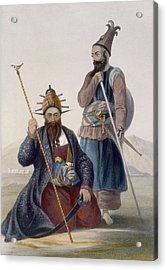 Chief Executioner And Assistant Of His Acrylic Print by James Rattray