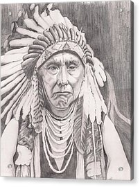 Chief Joseph Acrylic Print by Beverly Marshall