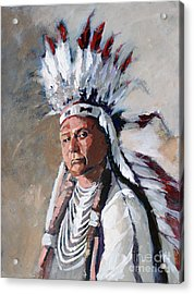 Chief Joseph Acrylic Print by Synnove Pettersen