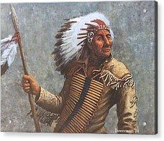Chief Knife Acrylic Print by Lee Bowerman
