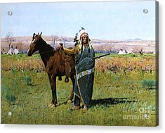 Chief Spotted Tail Acrylic Print by Pg Reproductions