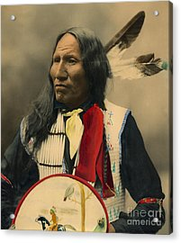 Acrylic Print featuring the photograph Chief Strikes With Nose 1899 by Heyn