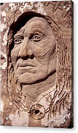 Chief-washakie Acrylic Print by Gordon Punt