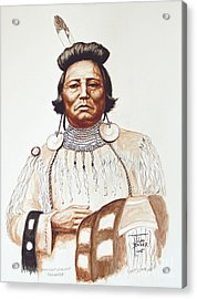 Chief Wolf Necklace Acrylic Print