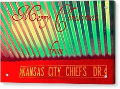 Chiefs Christmas Acrylic Print by Chris Berry