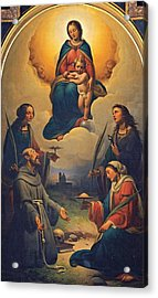 Chierici Alfonso, Madonna And Child Acrylic Print by Everett