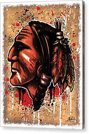 Chihawk Acrylic Print by Michael Figueroa