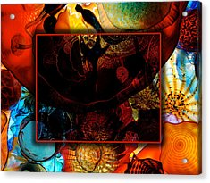 Chihuly Acrylic Print by David Blank