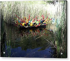 Chihuly Glass In Boat Acrylic Print by Jack Edson Adams