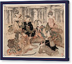 Chikurin No Kabe No Mae No Shichikenjin Acrylic Print by Shunman, Kubo (1757-1820), Japanese