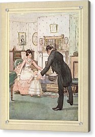 Child And Butler Acrylic Print by British Library