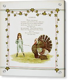 Child And Turkey Acrylic Print by British Library