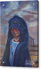 Child Bride Of The Sahara Acrylic Print by Avonelle Kelsey