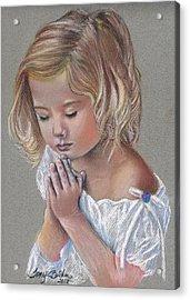 Child In Prayer Acrylic Print by Tonya Butcher