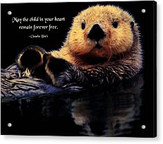 Child In Your Heart Acrylic Print by Mike Flynn