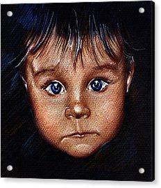 Child Portrait Acrylic Print by Daliana Pacuraru