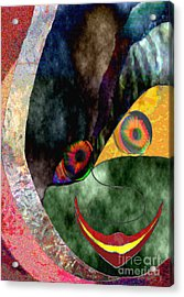 Child With Bright Shadow - Kind Mit Lichtem Schatten Acrylic Print by Mojo Mendiola