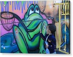 Child With Graffiti Acrylic Print by Lotus