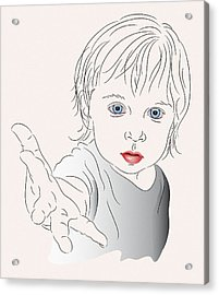 Child With Outstretched Hand Acrylic Print