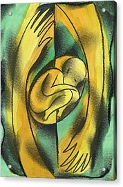 Childbirth Acrylic Print by Leon Zernitsky