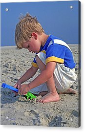 Acrylic Print featuring the photograph Childhood Beach Play by Marie Hicks