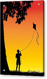 Childhood Dreams 1 The Kite Acrylic Print by John Edwards