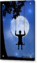 Childhood Dreams 2 The Swing Acrylic Print by John Edwards