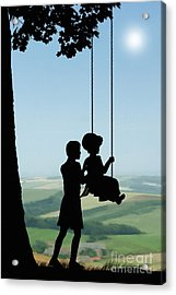 Childhood Dreams Push Me Acrylic Print by John Edwards