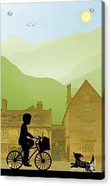Childhood Dreams Special Delivery Acrylic Print by John Edwards