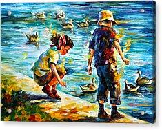 Childhood Acrylic Print by Leonid Afremov