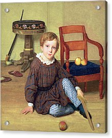 Childhood Acrylic Print by Ludvig August Smith