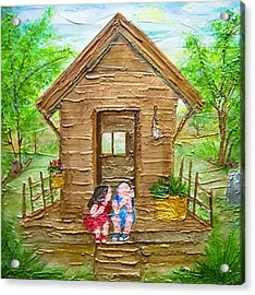 Childhood Retreat Acrylic Print by Jan Wendt