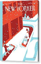 Snowplows Acrylic Print