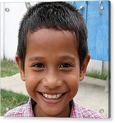 Children Faces Of East Timor Acrylic Print