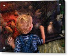 Children - Look At The Baby Acrylic Print by Mike Savad