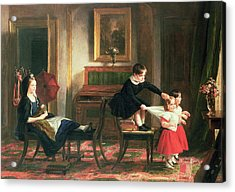 Children Playing At Coach And Horses Acrylic Print by Charles Robert Leslie