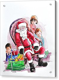 Children Patiently Waiting Up For Santa. Acrylic Print