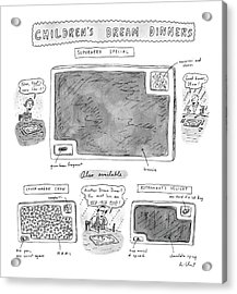 Children's Dream Dinners Superhero Special Title: Acrylic Print