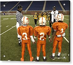 Acrylic Print featuring the photograph Children's Football by Jim West
