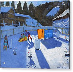 Childrens Ice Rink Acrylic Print by Andrew Macara
