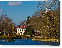 Children's Lake At Boiling Springs In Christmastime Acrylic Print