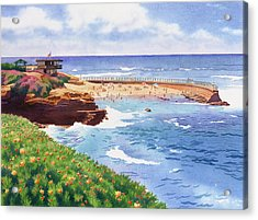Children's Pool In La Jolla Acrylic Print by Mary Helmreich