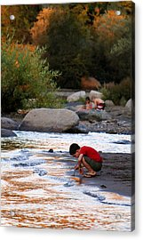 Childs Play Acrylic Print by Melanie Lankford Photography
