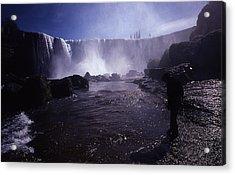 Chilean Waterfalls Acrylic Print by Thomas D McManus